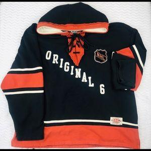 Old time hockey original 6 hoodie nhl rafters Vtg